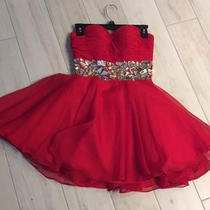 Red party dress/ homecoming /Prom